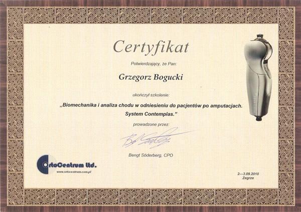 Biomechanika certyfikaty