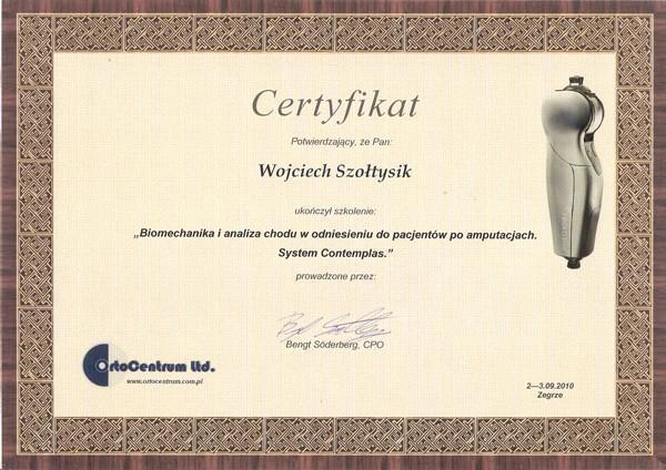 Certyfikat Biomechanika