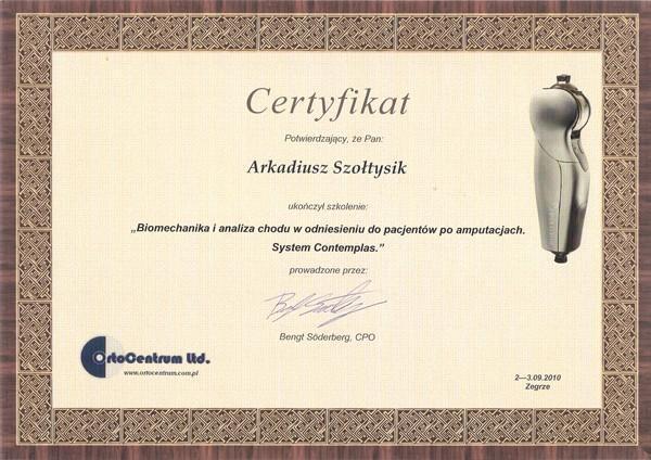 Biomechanika certyfikat