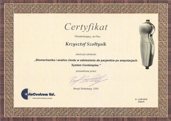 Certyfikaty Biomechanika