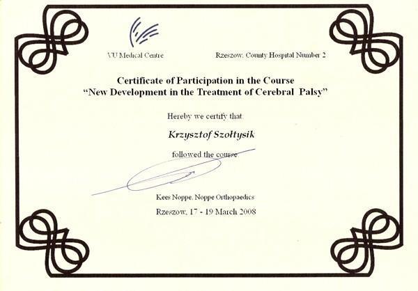 Certyfikat Rzeszów szkolenie