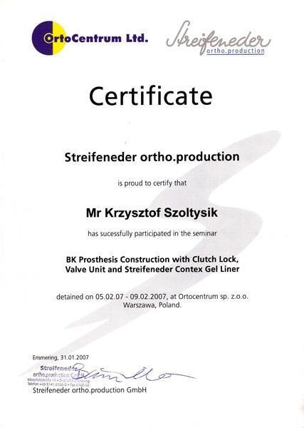 Certyfikat BK